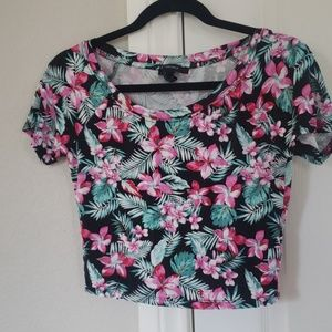 Forever 21 Hawaiian print top